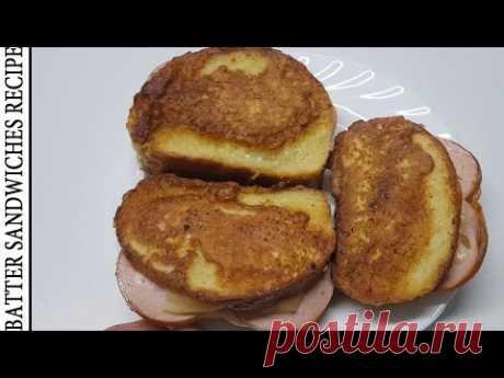 Простые бутерброды в кляре 🍞 Сандвич с сыром и колбасой 🍠 Рецепты бутербродов