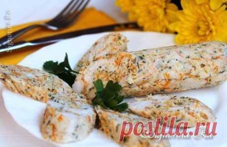 Колбаса из куриного филе с овощами  на 100грамм - 91.1 ккалБ/Ж/У - 15.98/1.63/2.1