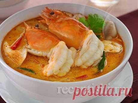 Суп том ям с креветками | Кулинарные рецепты с фото на Рецептыши.ру