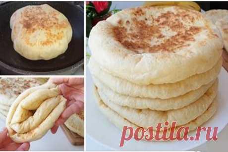 Турецкий хлеб базлама на кефире.