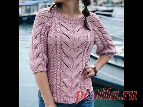 Модный Женский Свитер Спицами - 2019 / Fashionable Women's Sweater Knitting