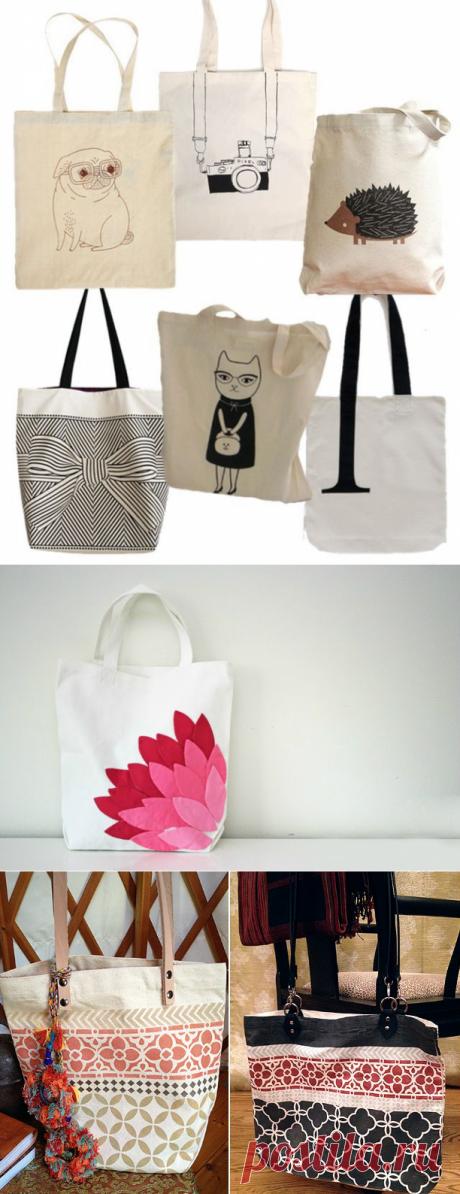 Шьём и декорируем сумку из ткани: 4 мастер-класса и 16 идей — Мастер-классы на BurdaStyle.ru