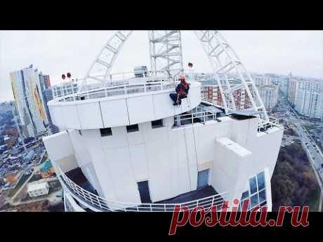 21 этаж спуск Альпиниста GoPro 3 - 4 Квадрокоптер DJI Phantom - YouTube