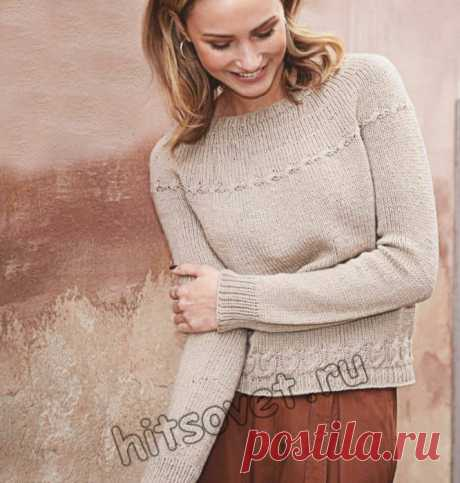Вязание свитера единым полотном