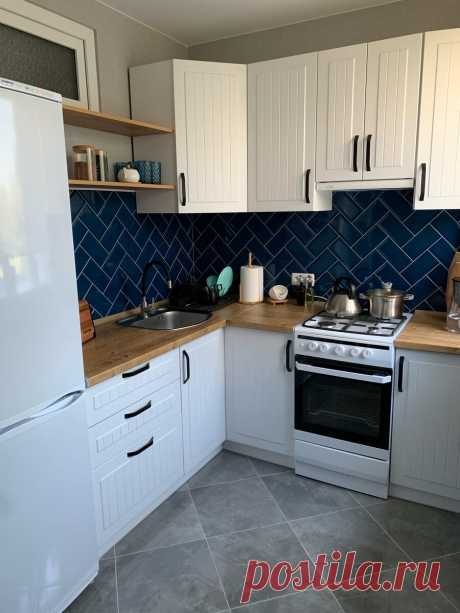 Обалденная переделка 6- метровой кухни. Очень красиво, стильно и уютно. До и после. | Уютная квартира | Яндекс Дзен