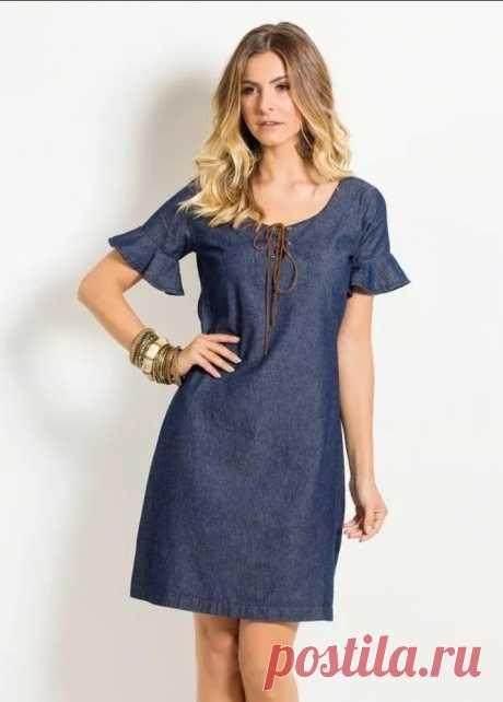Выкройка джинсового платья (Шитье и крой) – Журнал Вдохновение Рукодельницы