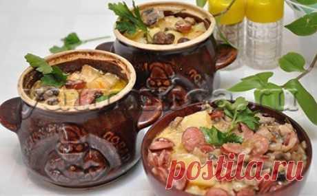 Горшочки в духовке рецепт - Пошаговые рецепты с фото
