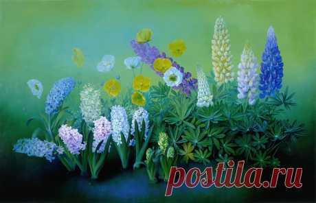 Художник Jose Escofet и его цветочная живопись Захотелось что-то зелени, цветов и вспомнились мне чудесные цветочные картины чудесного художника. Воможно, картины немного мрачноваты, но детальность заставляет рассматривать их снова и снова. Jose E…