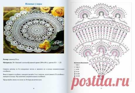 Копилка схем для вязания салфеток и других ажурных узоров крючком | Журнал Ярмарки Мастеров