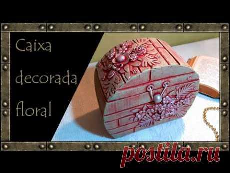CAIXA FLORAL de papelão / Caixa feita de papelão