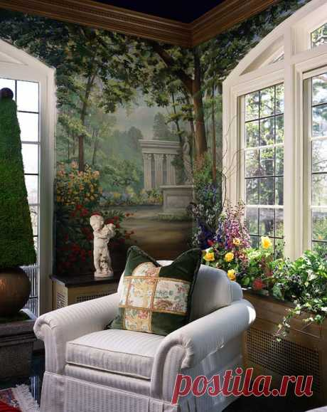 Художественная роспись стен в интерьерах