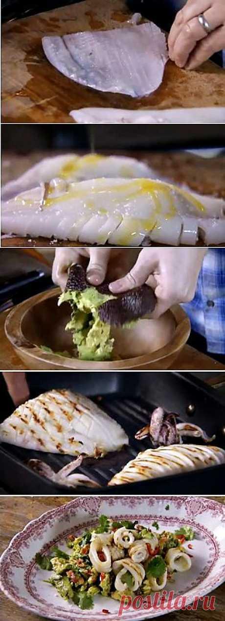 Как приготовить жареные кальмары за 2 минуты | Рецепты Джейми Оливера