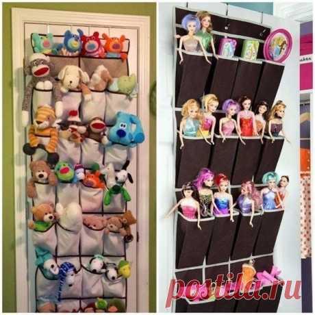 Идея для детской: каждой игрушке — свое место