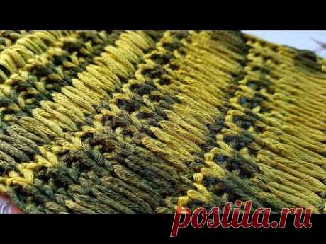 "Потрясающей красоты узор ""сказочный дождь"" 🌧 knitting pattern."
