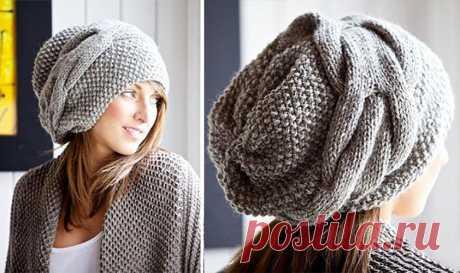 Стильная шапка спицами в стиле Бохо - Портал рукоделия и моды