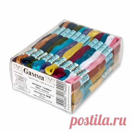 """Набор мулине """"Gamma"""" №6, 100 мотков по 8 м"""