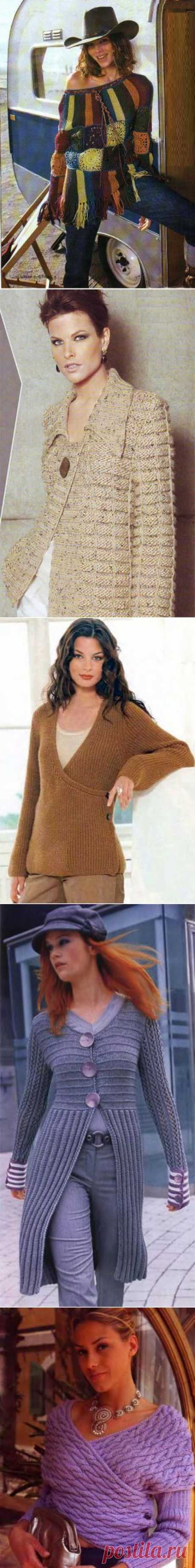 yarn, video, knitting lessons, knitting, spokes, hooks, needlework, Myhobby.kz, Models for knitting, Pullovers, jackets. Part III