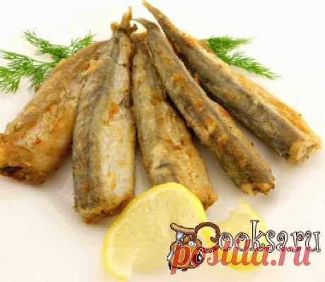 The capelin fried the recipe with a photo