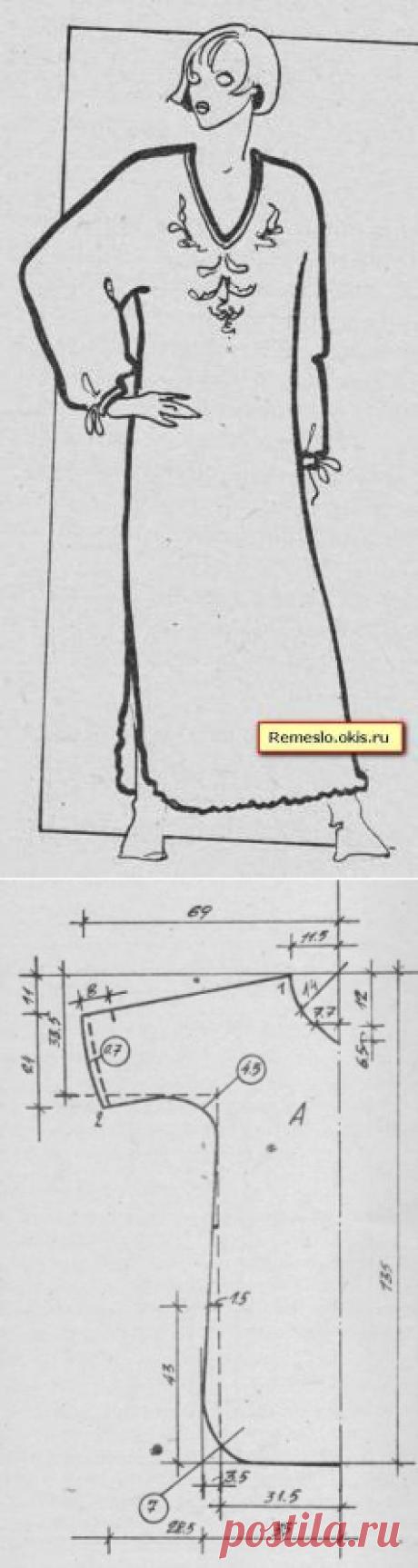 El camisón con tselnokroenym por la manga. La dimensión 50