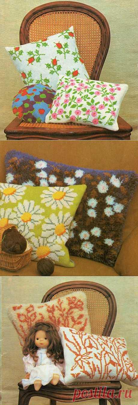 Пушистые подушки своими руками   Уют и тепло моего дома