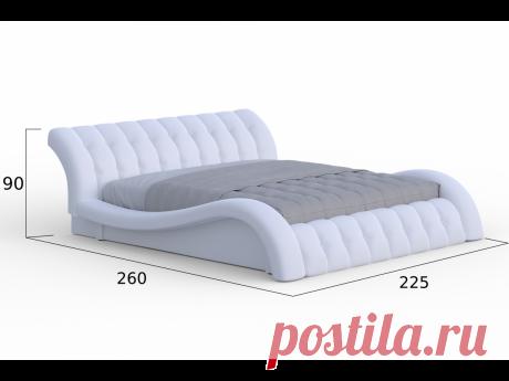 """Кровать с матрасом """"Мадрид"""" в интернет магазине мебели Dekonte.ru Москва"""