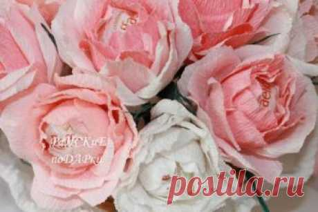 Мастер-класс: роза из гофробумаги
