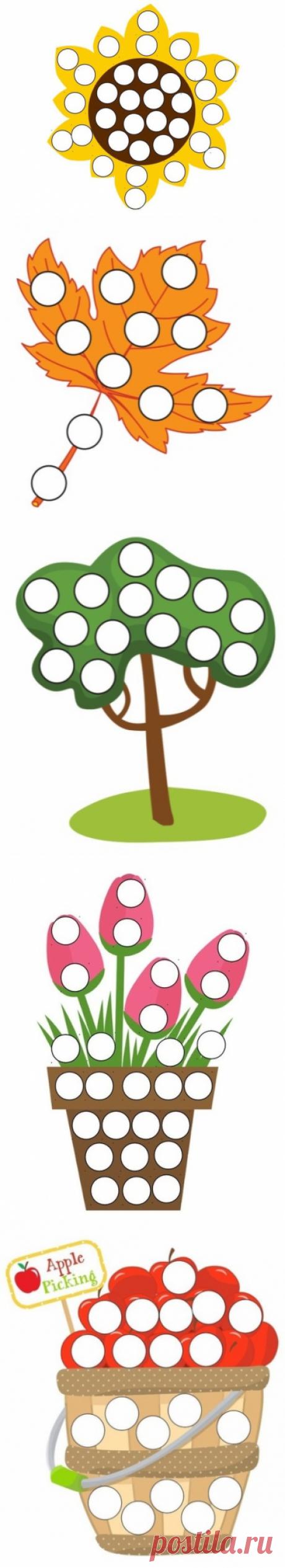 Шаблоны для пальчикового рисования - Поделки с детьми