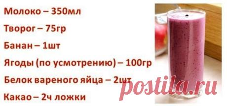 Вкусный коктейль - отличный вариант между приёмами полноценной пищи