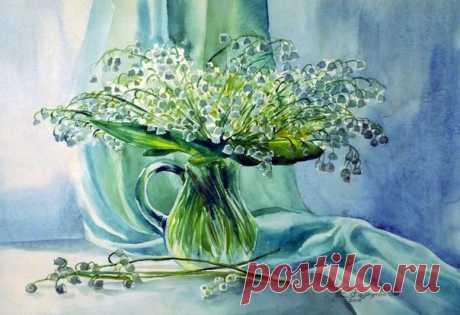 Рисуем ландыши в вазоне — Сделай сам, идеи для творчества - DIY Ideas