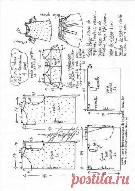 conjunto-blusa-falda-4.jpg (637×900)