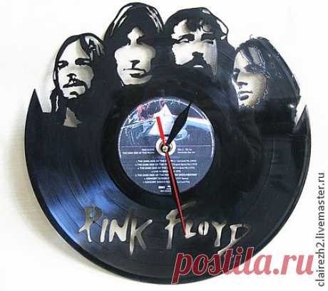 """Hours from a vinyl record of """"Pink Floyd"""" - black, gift to the musician, music"""