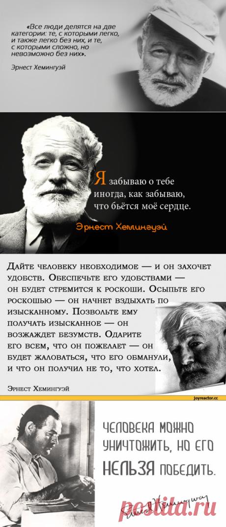 Главные цитаты Эрнеста Хемингуэя о людях и о жизни