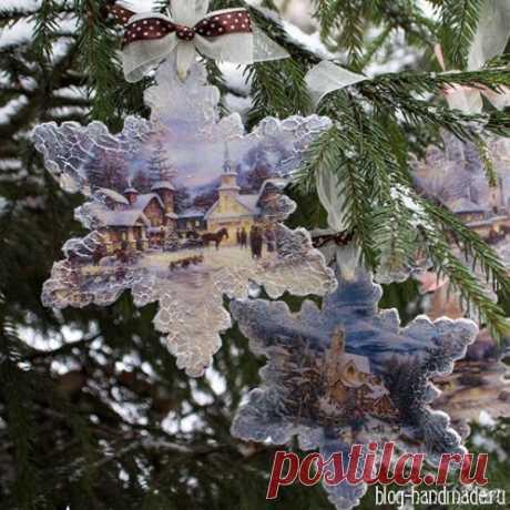 Елочные украшения своими руками - как сделать новогодний декор