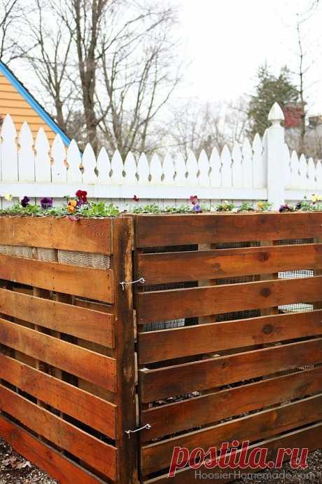 Как построить деревянный паллет компоста в 6 простых шагов   Hometalk