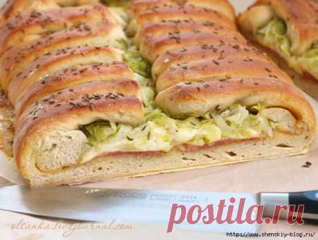 Деревенский хлеб-пирог с вкуснющей начинкой | Четыре вкуса