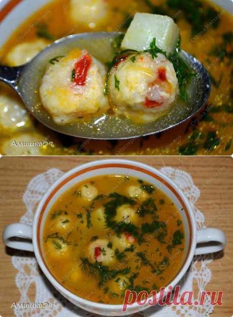 Овощной суп с сырными шариками | Страна Мастеров