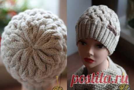 Шапочка «Плетенка» » Ниткой - вязаные вещи для вашего дома, вязание крючком, вязание спицами, схемы вязания
