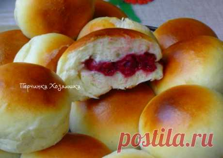 Vanilla rolls with cherry - Vypechka.Perchinka Hozyayushka.ru