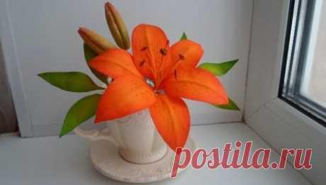 Лилии из фоамирана (59 фото): пошаговые мастер-классы для начинающих, шаблоны своими руками. Как сделать бутон цветка?