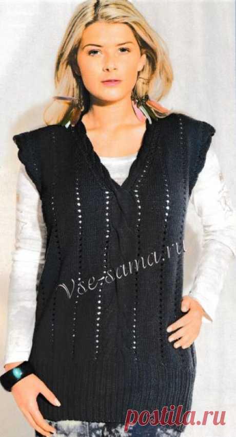 поиск на постиле вязание жилеты для женщин спицами