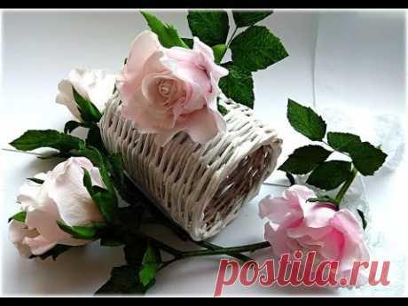 МК Роза из зефирного фоамирана