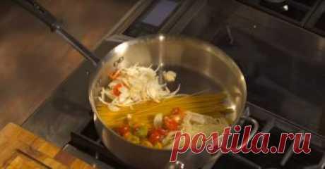 Невероятно вкусная паста. Готовится всего за 10 минут! Вкусно и ароматно!