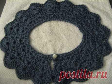 Crochet collar / peter pan collar / lace look collar