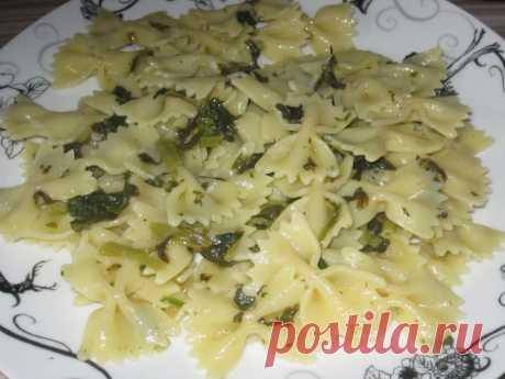 Макароны Фарфале со шпинатом