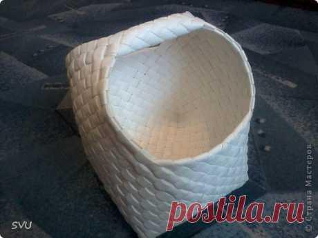 Плетение корзинки из упаковочной (полипропиленовой, стреппинг) ленты