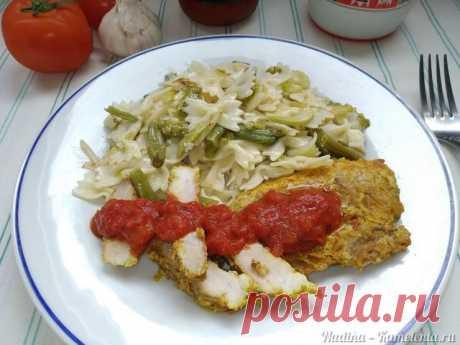 Запеченные стейки свинины, маринованные овощами, специями и соусом