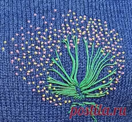 Вязание + вышивка. Создаем из базовой модели эксклюзив ✌ | Золотое переплетение | Яндекс Дзен