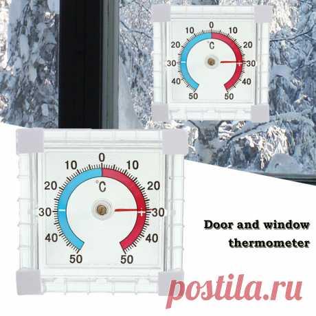 Пластиковые высокой точности термометр окно Крытый Открытый стены теплицы Сад домашний декор|Приборы для измерения температуры| | АлиЭкспресс
