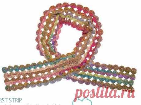 0860 - шарфи, шалі, палатини - В'язання для жінок - Каталог статей - Md.Crochet