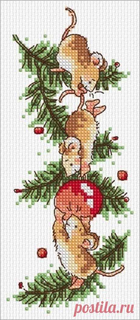 Новогодняя и Рождественская вышивка.  Схемы